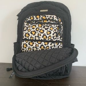 Vera Bradley black quilted backpack